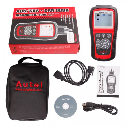 Original Autel AutoLink AL619 EU ABS/SRS OBDII CAN Diagnostic Tool Supports Online Update