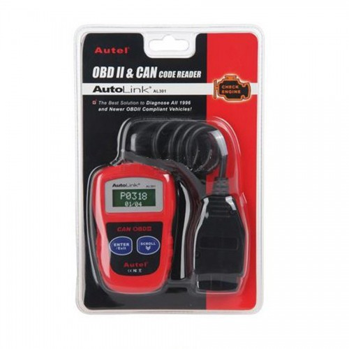 Powerful Autel AutoLink AL301 OBDII/CAN Code Reader Free Shipping