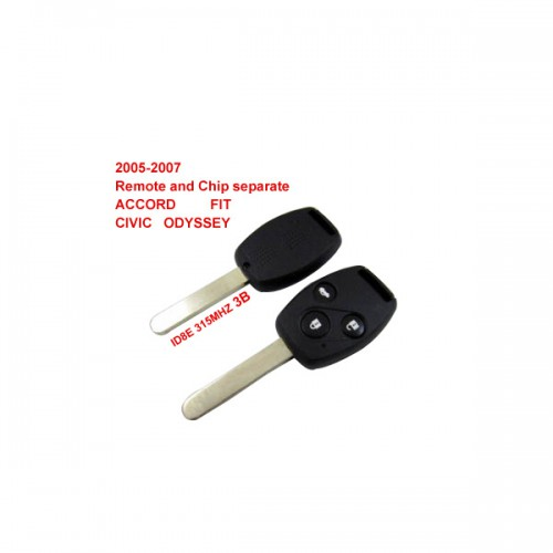 Remote Key 3 Button and Chip Separate ID:8E (315MHZ) For 2005-2007 Honda Fit ACCORD FIT CIVIC ODYSSEY