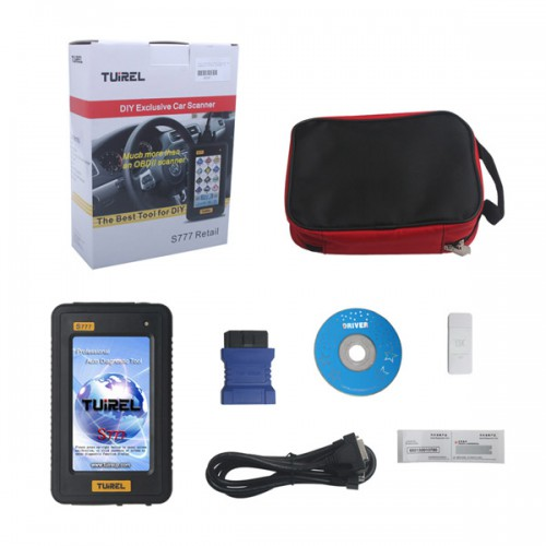 Original Tuirel S777 Retail DIY Professional Auto Diagnostic Tool with Full Software Free Update Online For 2 Years