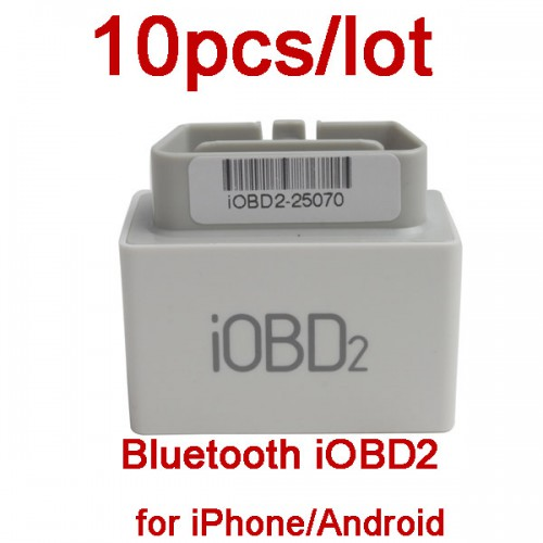 10pcs/lot iOBD2 Bluetooth OBD2 EOBD Auto Scanner Trouble Code Reader for iPhone/Android