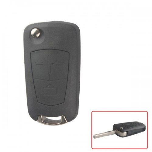 Modified Flip Remote Key Shell 3 Button (HU43) for Opel 5pcs/lot