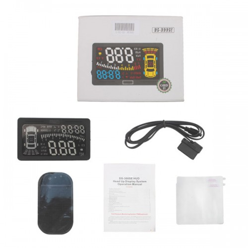 DS-300SE OBD II Heads Up Display HUD MILE KM Rpm Speed Overspeed Warning Battery Voltage Water Temp