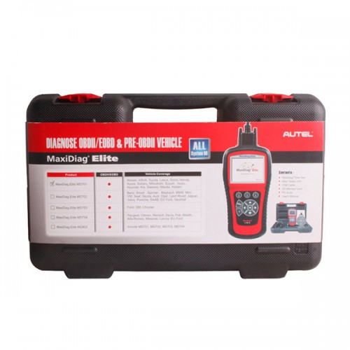 Autel MaxiDiag Elite MD701 Full System with Data Stream Asian Vehicle Diagnostic Tool Update Online