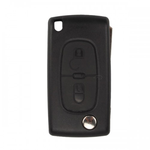 Remote Key Shell 2 Button (Without Battery Location) For Peugeot Flip 5pcs/lot