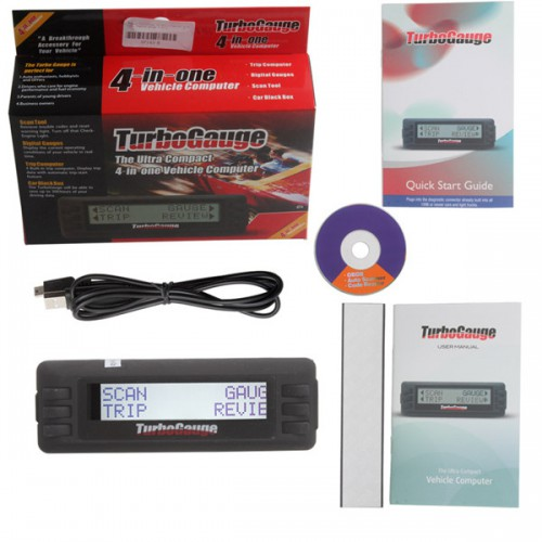 Newest TurboGauge IV Auto Digital Gauge 4 in 1 Trip Computer Free Shipping From US