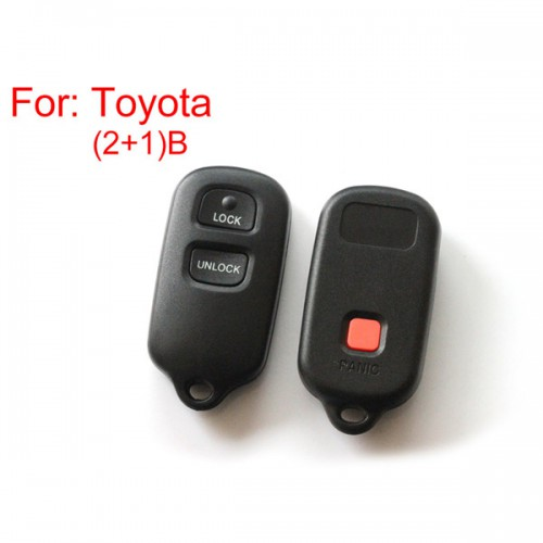 Remote Key Shell 2+1 Buttons for Toyota
