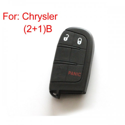 Remote key shell 2+1 button for Chrysler