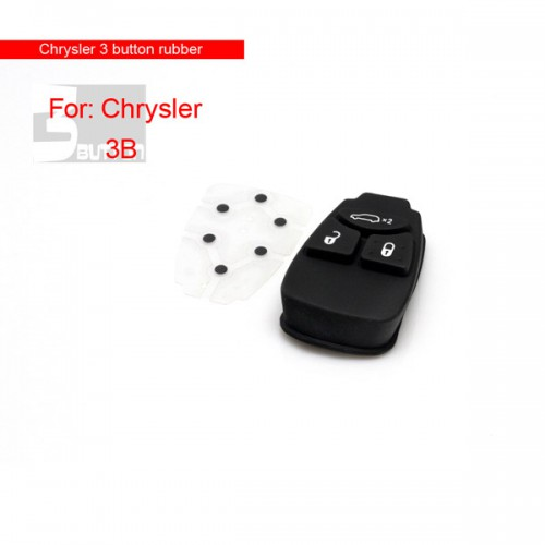 3 Button Remote Key Rubber( Small Button) for Chrysler 5pcs/lot