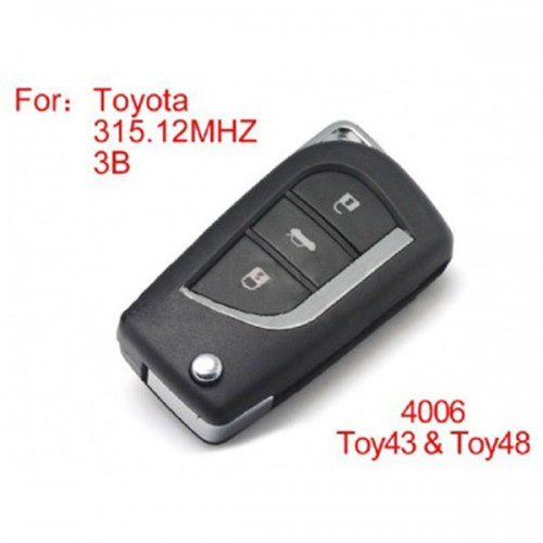 Modified Key 3 Buttons 315MHZ for Toyota (ohne chip)