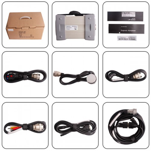 V2016.03 Mb Star C3 Pro with 7 Cable for Benz Truck and Cars Supports WIN7/WIN8