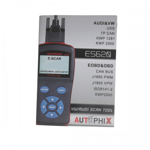 Free Shipping AUTOPHIX E-SCAN ES620 Scanner Support OBD2 VW Protocols (Including UDS Protocols)