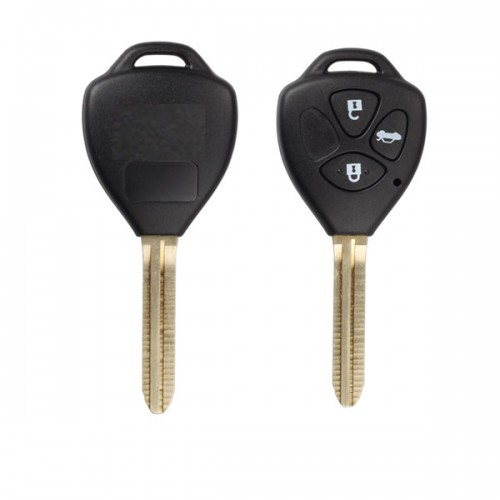 Remote Key Shell 3 Button With Sticker for Toyota 5pcs/lot