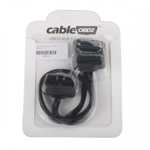 Cableobd2 OBD to HUB 9Pin T Cable for ELM327/ad-blue-OBD2/NitroOBD2/EcoOBD2/GPS/Navigation Devices