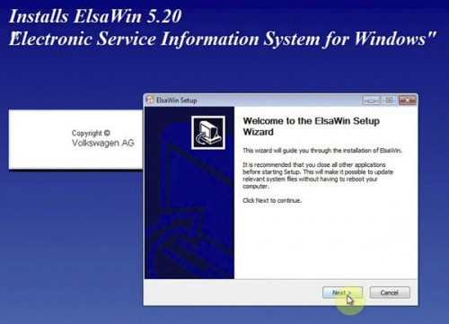 New Arrival ELSAWIN 5.2 Electronic Service Information for Audi VW Skoda Seat