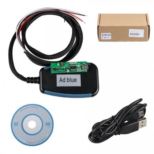 Ad-blue-obd2 Emulator 7-in-1 with Programming Adapter Best Quality