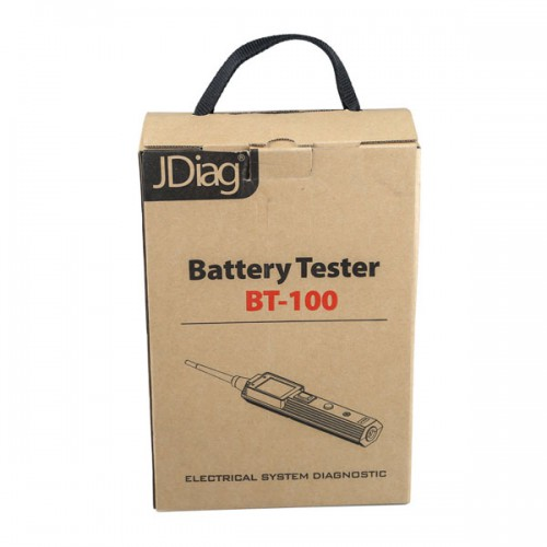 Original Jdiag BT-100 BT100 Battery Electrical System Circuit Tester for 12V and 24V Vehicles Free Shipping