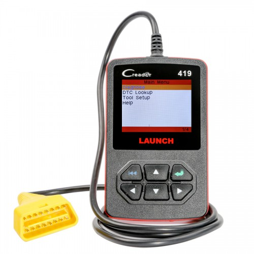 Original Launch CReader 419 DIY Scanner OBDII/EOBD Auto Diagnostic Scan Tool Code Reader Free Update Online  Ship from US