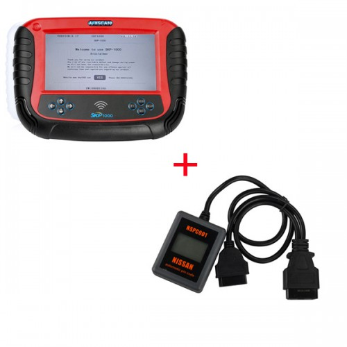 Original SKP1000 Auto Key Programmer Plus Hand-held NSPC001 Automatic Pin Code Reader For Nissan