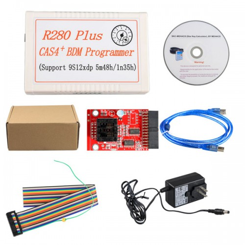 R280 Plus CAS4+ BDM Programmer for BMW Motorola MC9S12XEP100 chip (5M48H/1N35H) R270 Update Version