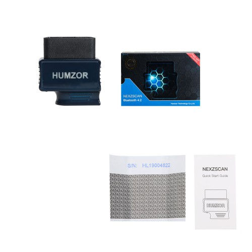 HUMZOR NEXZSCAN NL50 New Generation Bluetooth 4.2 Automotive OBD2 Code Reader for iOS and Android