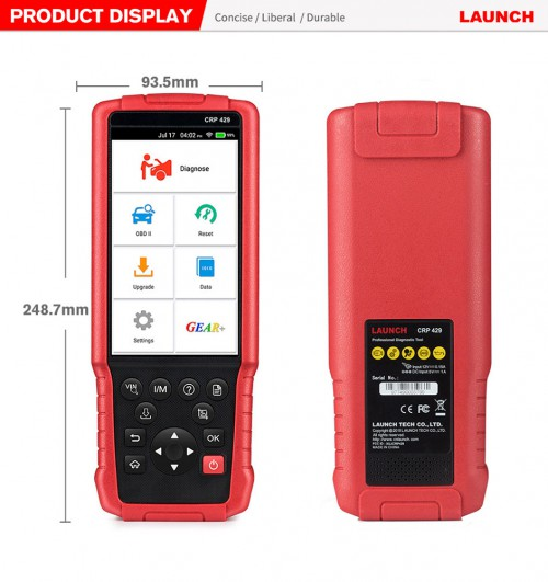 Launch X431 CRP429 Full-System OBD2 Code Reader