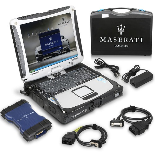 Maserati MDVCI Diagnostic Scanner Supports Programming + Maintenance Data with Software Installed in Panasonic CF19 Laptop