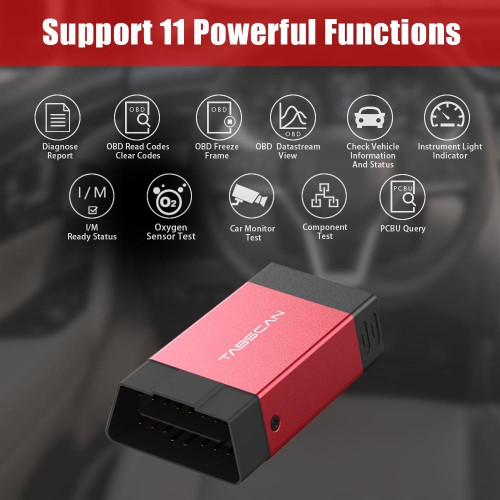 EUCLEIA Tabscan T2 Bluetooth Full System Scan Tool for Android Phone with One Free Car Brand Software