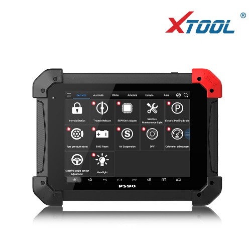 XTOOL PS90 Pro Diagnostic Tool for Diesel Gasoline Car and Trucks PS90 Heavy Duty Code Scanner with Odometer Adjustment Function