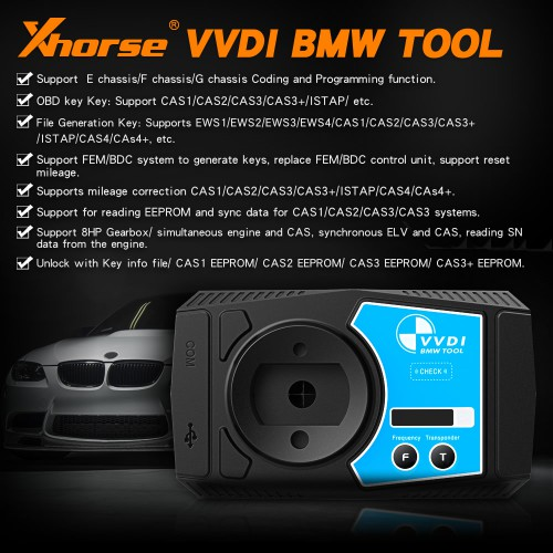 V1.5.0 Xhorse VVDI BMW Immobilizer, Coding and Programming Tool with Free Mini Key Tool