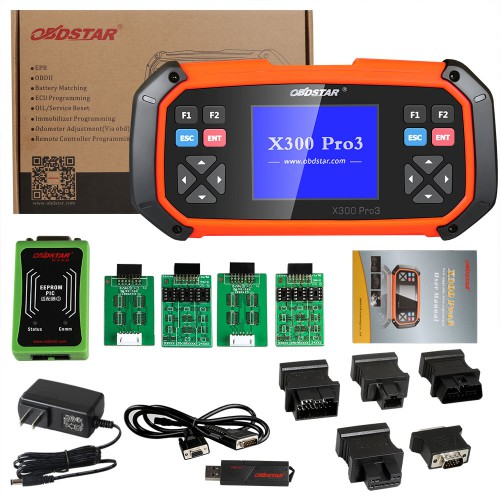 (UK/US Ship, No Tax) OBDSTAR X300 PRO3 Key Master with Immobiliser + Odometer Adjustment +EEPROM/PIC+OBDII+Toyota G & H Chip All Keys Lost