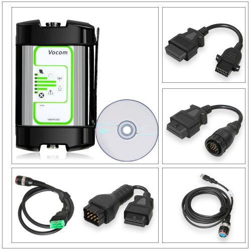 PTT1.12/2.40 Volvo 88890300 Vocom Interface for Volvo/Renault/UD/Mack Truck Diagnose Round Interface Heavy Duty Scanner With Online Update
