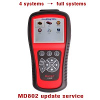 New Autel MaxiDiag MD802 Update Service from 4 Systems to All Systems