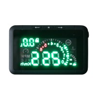 LED Car HUD Head Up Display With OBD2 Interface Plug & Play Speeding Warn System W01