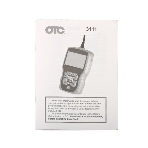 Otc 3111 Obd2 Eobd Code Reader Obdiicanabsairbag Scan Tool