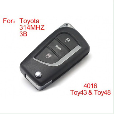 Modified Remote Key 4Buttons 314MHZ for Toyota (no The Chip)