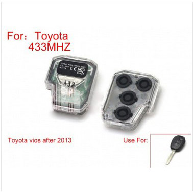 Vios 2 Button Remote Control 433Mhz for Toyota After 2013