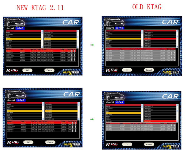 comparision between new and old ktag