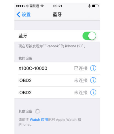 x100c ios bluetooth setting