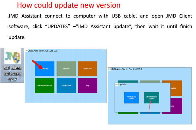 how to update JMD ASSISTANT