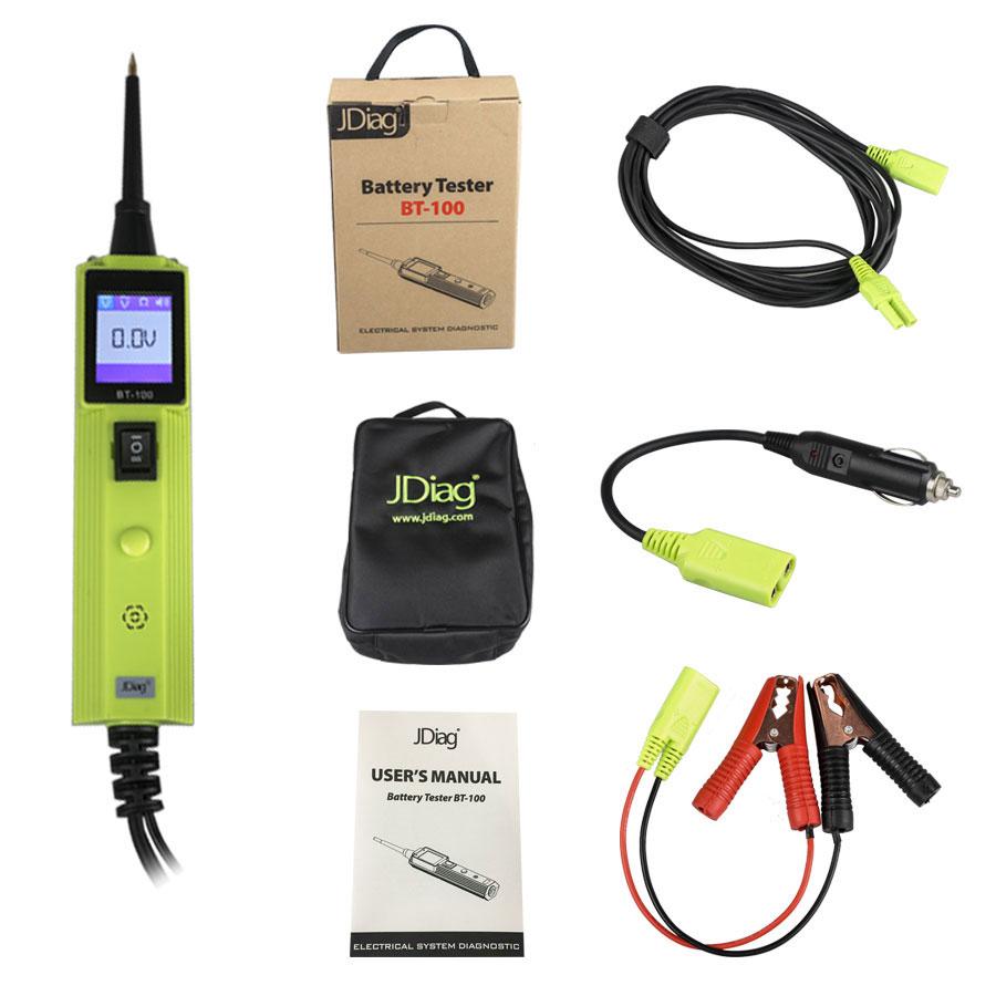 Jdiag Bt 100 Bt100 Battery Electrical System Circuit Tester Testers Original For 12v And 24v Vehicles