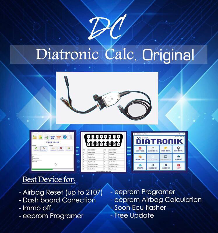 why do you choose Diatronik SRS+DASH+Calculation+EPS OBD Tool ?