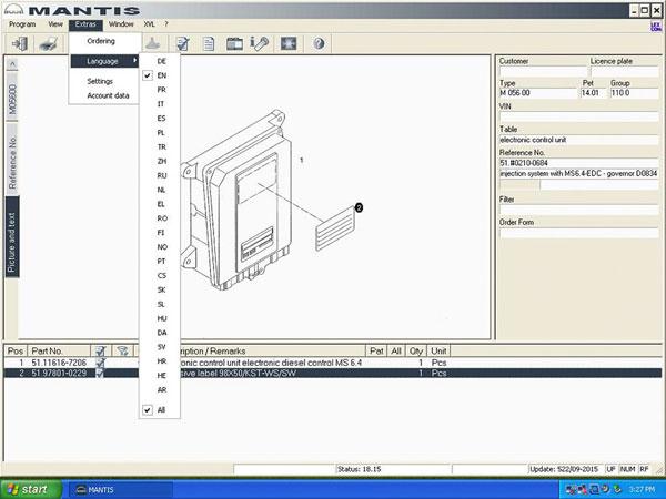 Man (Mantis) 2015 Workshop EPC Electronic Parts Catalogue