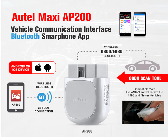 (7%OFF,$65 09) Autel MaxiAP AP200 Bluetooth Full-System OBD2 Scanner Code  Reader for iOS, Android