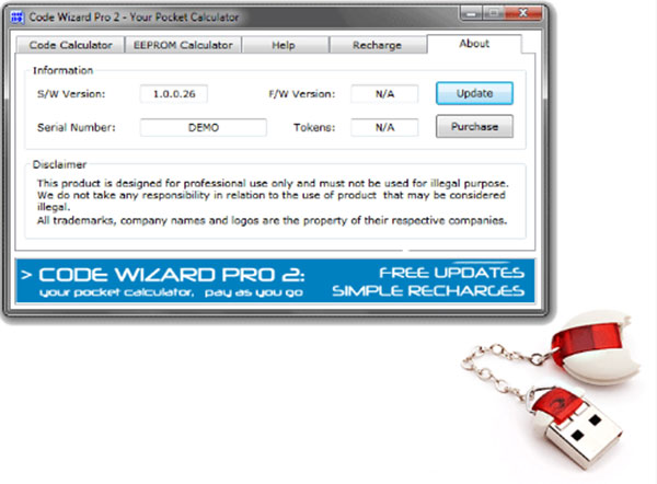CWP2 Code Wizard Pro 2 PinCode Calculator software