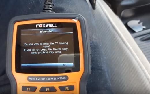 Foxwell NT510 Reset Honda Throttle Body TPS