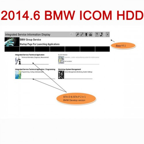 Newest 2014.6 ICOM ISTA-D 3.42.40 ISTA-P 52.4.000 Software HDD FOR BMW