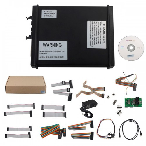 V2.13 K-TAG KTAG KTM100 firmware V7.003 ECU Programming Tool Master One Button Click to Charge Token