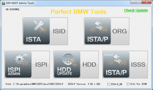 ICOM HDD V2015.7 / Win8 System ISTA-D 3.50.10 ISTA-P 3.56.1.002 without USB Dongle for BMW Multi Language