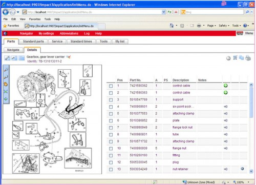 Impact 2015A Spare Parts Catalog for Renault Trucks